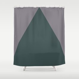 Night Watch PPG1145-7  Triangle and Magic Dust Muted Purple PPG13-24 Geometric Shapes Minimal Art Shower Curtain