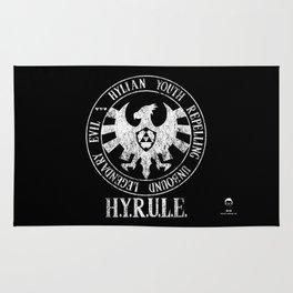 Agents of H.Y.R.U.L.E. | White print variant Rug