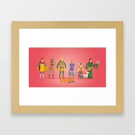 Dungeons and Dragons - Pixel Nostalgia Framed Art Print