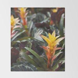 Bromeliad Throw Blanket