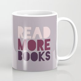 Read More Books (Purple) Coffee Mug
