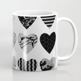 Metallic Love - Hexagon, stripes, triangles, geometric, marble, paint splat hearts! Coffee Mug