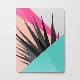 Tropical and geometric composition II Metal Print