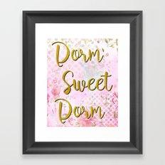 Dorm Sweet Dorm  Framed Art Print