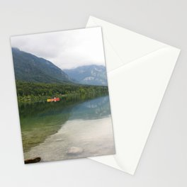 Kayaking on Lake Bohinj Stationery Cards