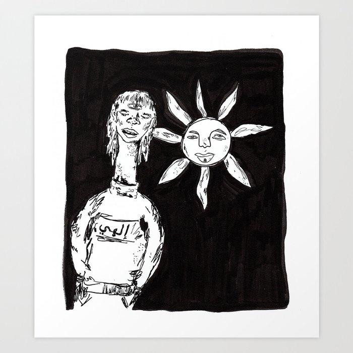 sun-child called shamsi Art Print