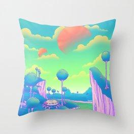 Planet Namek Throw Pillow