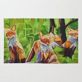 Fox Cub Four Rug