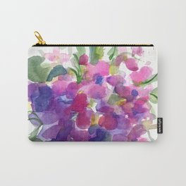 Little Pink Violets Carry-All Pouch