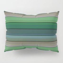 Striped green-gray pattern Pillow Sham