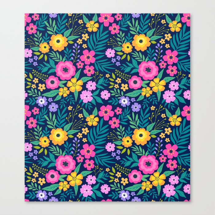 23 Amazing floral pattern with bright colorful flowers ...