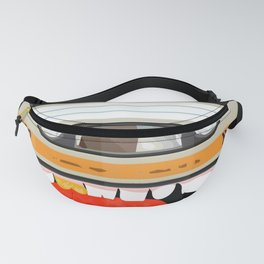 The cassette tape golden tooth Fanny Pack
