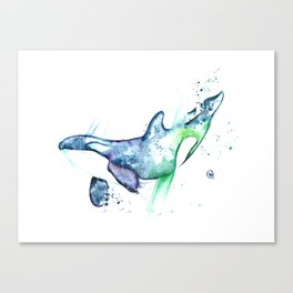 Orca - Into the Blue Canvas Print