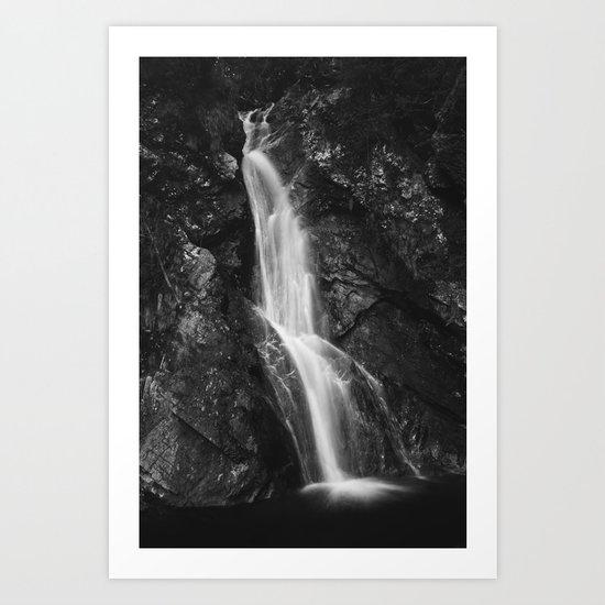 Waterfall in Hell Gorge, Slovenia Art Print