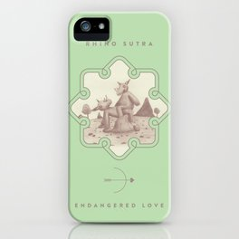 Endangered Love - Rhino Sutra iPhone Case