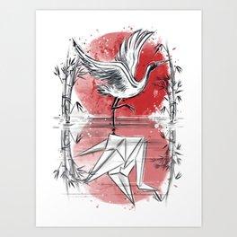 Mirror of water Art Print