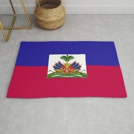 Haiti flag emblem Rug