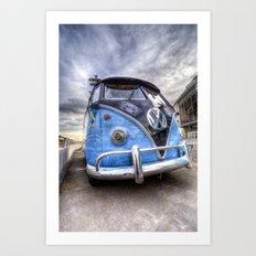 German Camper Van Art Print