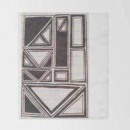 Squares Squared  Throw Blanket