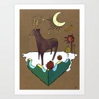 Deer Dreams Art Print