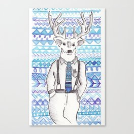 blue steel stag Canvas Print