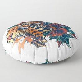 Ornate Leopard (Color Version) Floor Pillow