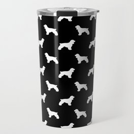 Cocker Spaniel black and white minimal modern pet art dog silhouette dog breeds pattern Travel Mug