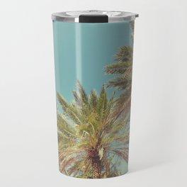 Retro Summer Palm Trees Travel Mug