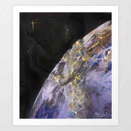 Earth Kintsugi Art Print