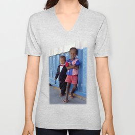 Overdressed In Zanzibar Unisex V-Neck