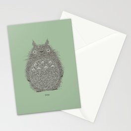 Green Totoro Stationery Cards