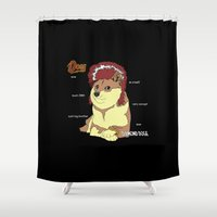 doge Shower Curtains featuring Diamond Doge by merimeaux