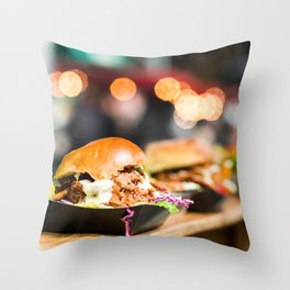 Burger Time Throw Pillow