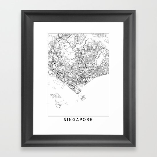 Singapore White Map by multiplicity