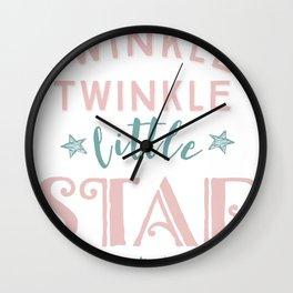 Twinkle Twinkle Little Star Cute design Wall Clock