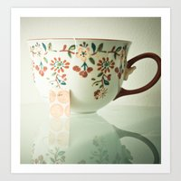 tea Art Prints featuring Tea by Olivia Joy StClaire