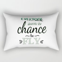 Everyone Deserves The Chance To Fly | Defying Gravity Rectangular Pillow