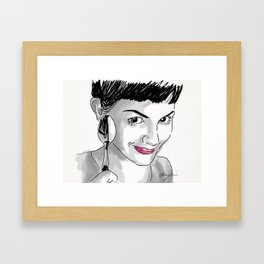 Amelie and Spoon. Framed Art Print