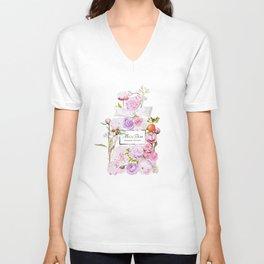 Parfum Perfume Fashion Floral Flowers Blooming Bouquet Unisex V-Neck