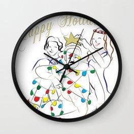 Happy Holiday Tick Wall Clock