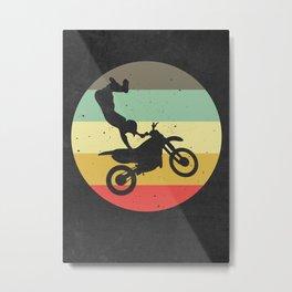 Motocross Dirt Bike Metal Print