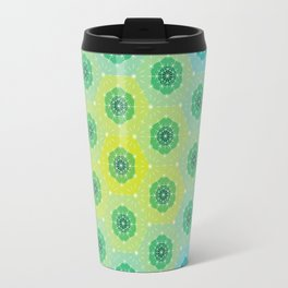 Ombre Dashed Hexagons Pattern Travel Mug
