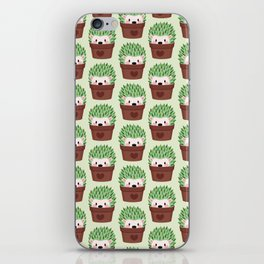 Hedgehogs disguised as cactuses iPhone Skin
