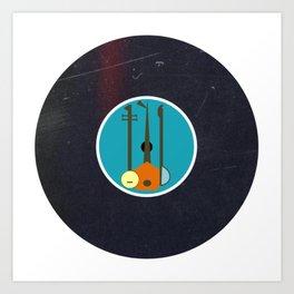 Vinyl Record Art & Design | Mid-Century Modern Music Instruments Art Print