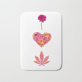 i Heart Pot Leaf Bath Mat