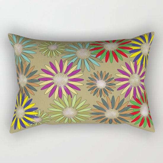 Floral healing meditation Rectangular Pillow