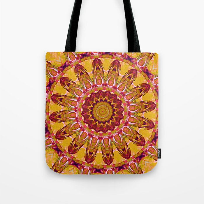 The goldish mandala Tote Bag