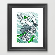 Skate Air Framed Art Print