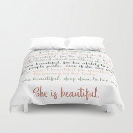 She Was Beautiful By F. Scott Fitzgerald 3 #minimalism #poem Duvet Cover