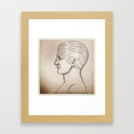 Phrenology Head Framed Art Print